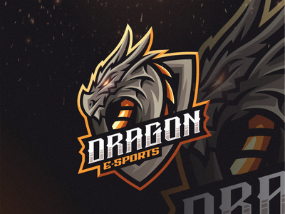 Dragon E-sports vector e-sports esports angry e-sport esport sport dragon character brand logo