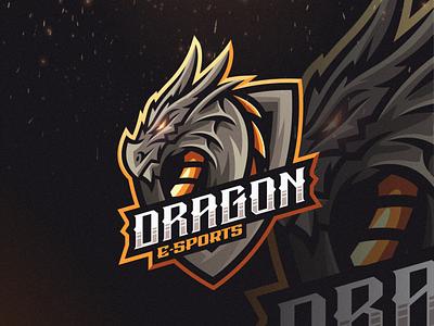 Dragon E-sports vector e-sports esports angry e-sport esport sport dragon character brand logo