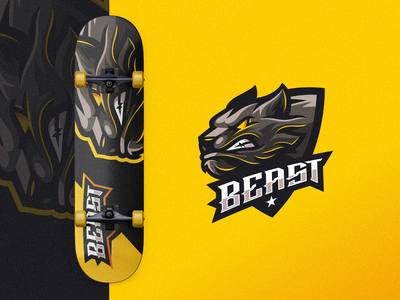 Beast esports angry e-sport esport sport mascot character brand logo beasts beast
