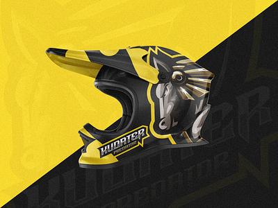 Kudater Predator shield esports angry e-sport esport sport mascot character brand logo predator horse
