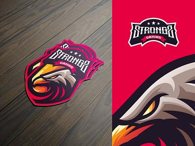 Strong's Gaming e-sports gaming shield character e-sport sport mascot logo esport eagle logo esport eagle logo eagle
