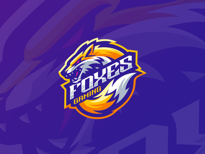 Foxes Gaming e-sport esport sport mascot shield character brand logo gaming logo foxes fox gaming