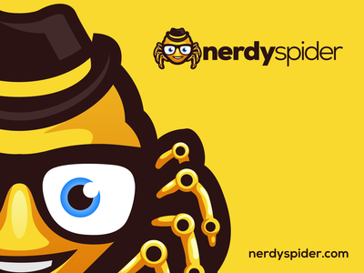 Nerdy Spider esports angry e-sport esport sport mascot character brand logo spider nerd