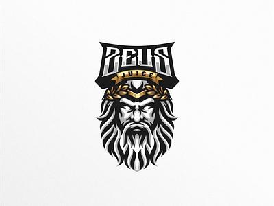 zeus shield esports angry e-sport esport sport mascot character brand logo zeus