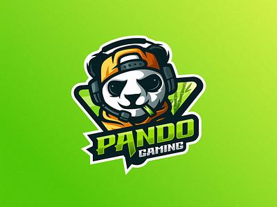 pando esports angry e-sport esport sport mascot character brand logo panda esport panda