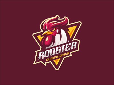 Rooster illustration e-sport esport mascot character brand chicken diner chicken logo rooster