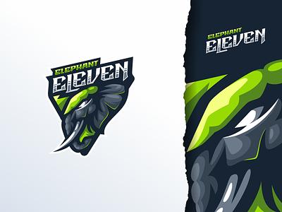 Elephant Eleven ui sport design illustration mascot e-sport esport character brand logo elephant logo esport elephant logo elephant