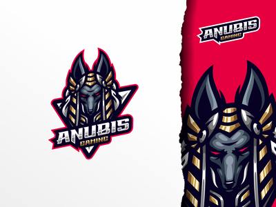 Anubis Gaming ui illustration design e-sport sport mascot character brand logo esport gaming anubis