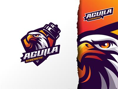 Aguila Strength motion graphics graphic design ui illustration design e-sport esport sport mascot character brand logo hawk eagle
