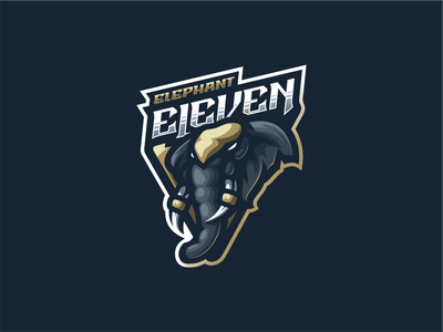 Elephant Eleven ui illustration design mascot character brand logo design awesome sport motion logo logo esport esport eleven elephant