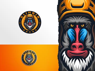 Climb Rocks ui illustration design e-sport esport sport mascot character brand logo baboon