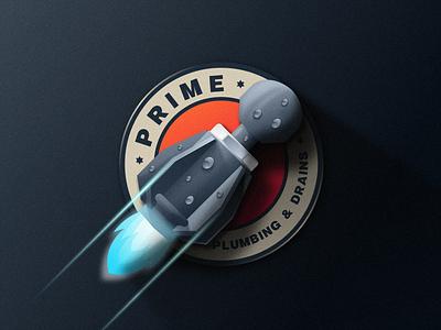 Prime Plumbing and Drains ui illustration design e-sport esport sport mascot character brand logo drains plumber plumbing