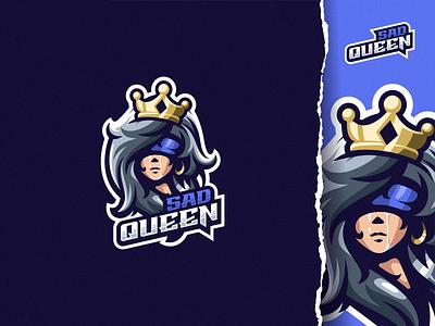 sad queen ui illustration design e-sport esport sport mascot character brand logo cry sad crown queen