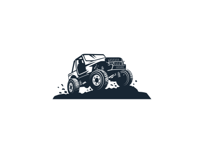 Off Road truck brand logo jeep off road