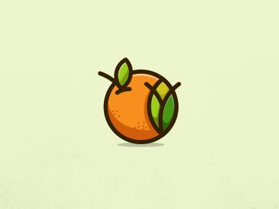 Tangerine Tulips brand logo lineart tulips tangerine