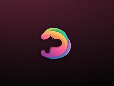 Hippo negative fullcolor brand hippo logo