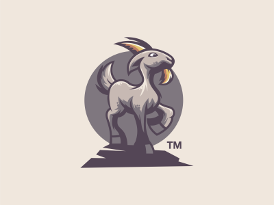 Oh My Goat logo goat