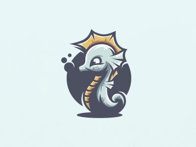Cute Seahorse cute horse logo seahorse