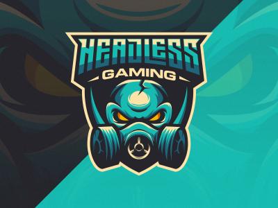 Headless Gaming gaming e-sports esport logo headless gaming