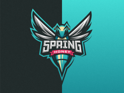 Spring Honey badge logo logo sport esport logo honey