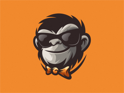 Monkey esport logo monkey logo ape logo monkey