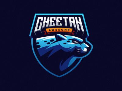 Cheetah E-sports e-sports lion tiger e-sport sport shield cheetah badge logo
