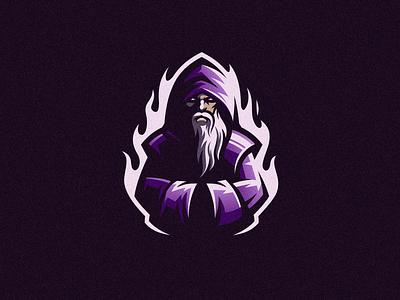 Wizard wizard design dota2 illustration beard badge logo esport cute gaming e-sports esports shield angry e-sport esport sport character mascot brand logo