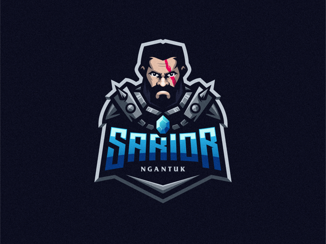 Sarior spartan badge logo esport warrior angry e-sports esports shield e-sport esport sport character mascot brand logo