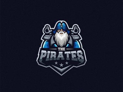 The Pirates illustration beard badge logo esport gaming cute e-sports esports shield angry e-sport esport sport character mascot brand logo pirates pirate