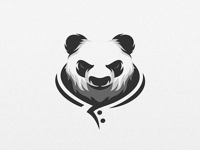 Panda shield e-sport esport sport character mascot brand logo panda logo angry panda