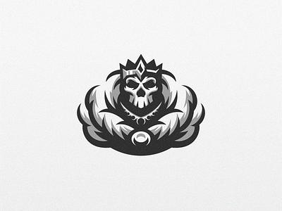 Skeleton King beard badge logo esport gaming e-sports esports e-sport esport sport character mascot brand logo skeletons king skull skeleton