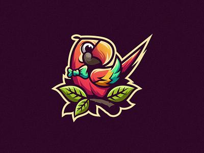 Camelot Macaw logo esport gaming e-sports esports shield angry e-sport esport sport character mascot brand logo camelot macaw