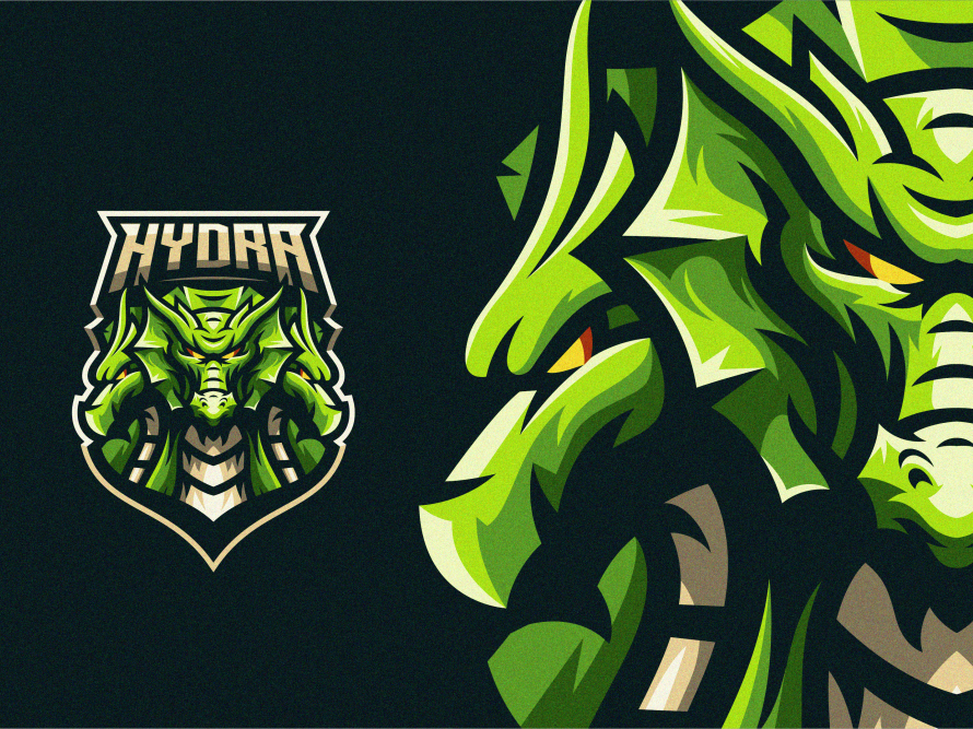 angry hydra gaming mascot
