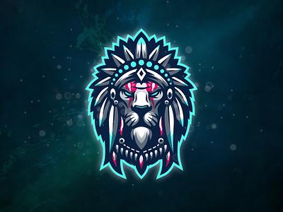 Lion design illustration badge logo esport gaming e-sports esports shield angry e-sport esport sport character mascot brand logo lion logo lion king lion head lion