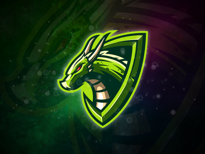 Dragon dragon badge logo esport gaming e-sports esports shield angry e-sport esport sport character mascot brand logo