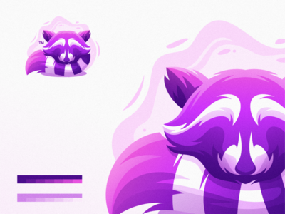 Raccoon minimal website animation web app icon ux typography branding ui vector design illustration gaming sport mascot character brand logo raccoon