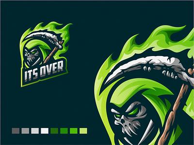 Its Over design illustration badge logo esport gaming e-sports esports shield angry e-sport esport sport mascot character brand logo