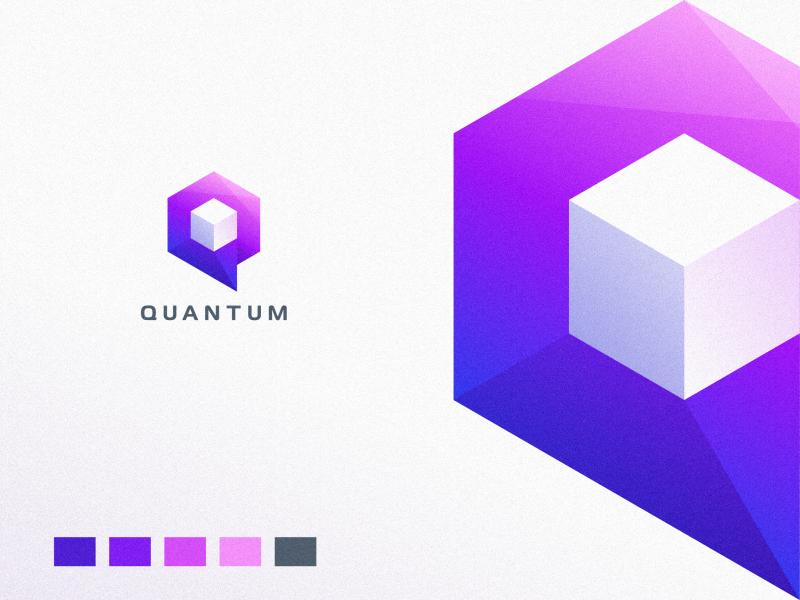 Quantum lettering type minimal website flat animation web app icon ux typography branding vector ui design sport mascot character brand logo