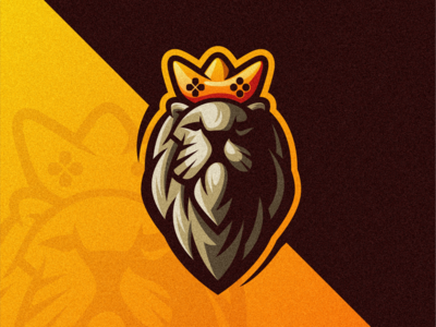 Gaming Digest esports shield angry e-sport sport mascot character logo lion king gaming logo esport king lion logo