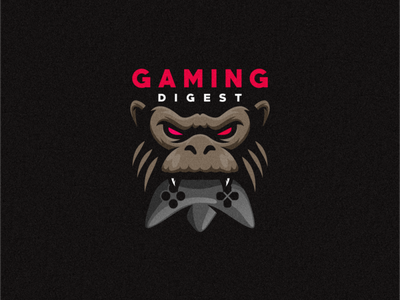 gaming digest shield esports angry e-sport esport sport mascot character brand logo