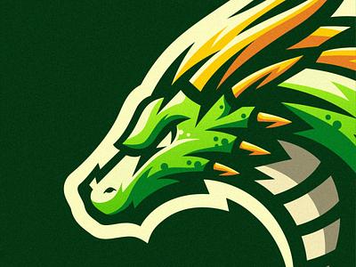 dragon shield esports angry e-sport esport sport mascot character dragon brand logo