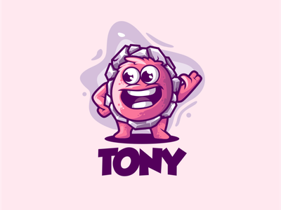 Tony cute Illustration branding vector ui design illustration sport mascot character brand logo