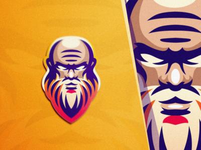 old man logo esport gaming esports angry e-sport esport sport mascot brand logo old man