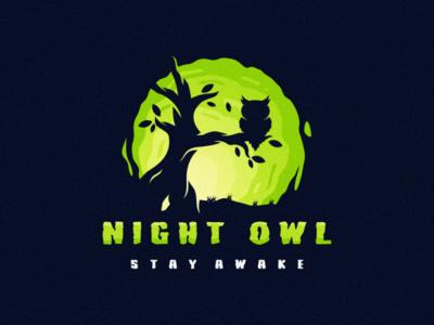 night owl esports angry e-sport esport sport mascot character brand logo night night owl