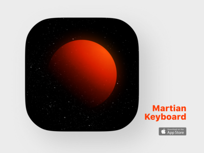 Icon design 2 appstore orange space universe mars button uiux mobile app ios logo icon