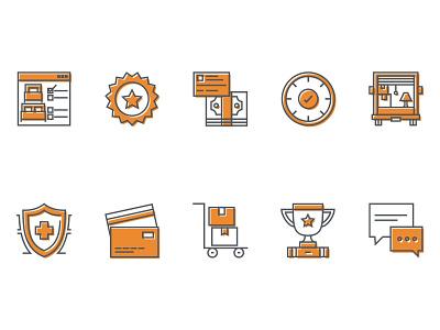 Moving Company Icons ux icon design icon set icon moving company design illustration
