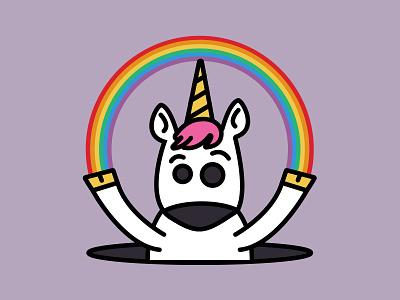 Unicorn Illustration  rainbow unicorn illustration illustrator