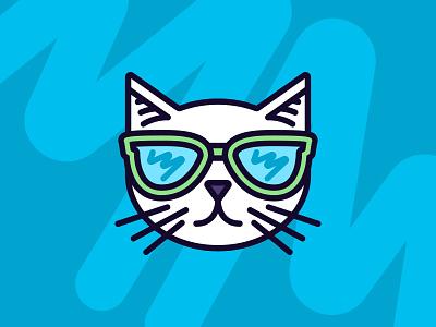 Cattitude  thick lines illustration cat