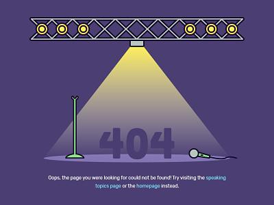404 — Empty Stage web design web not found illustration error ux 404