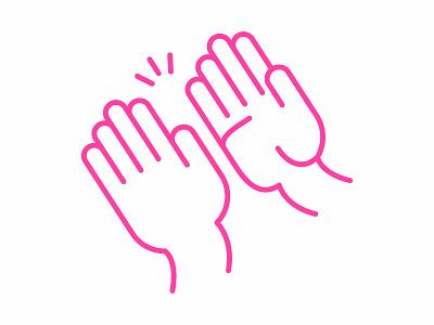 High Five Friday high-five hands illustration